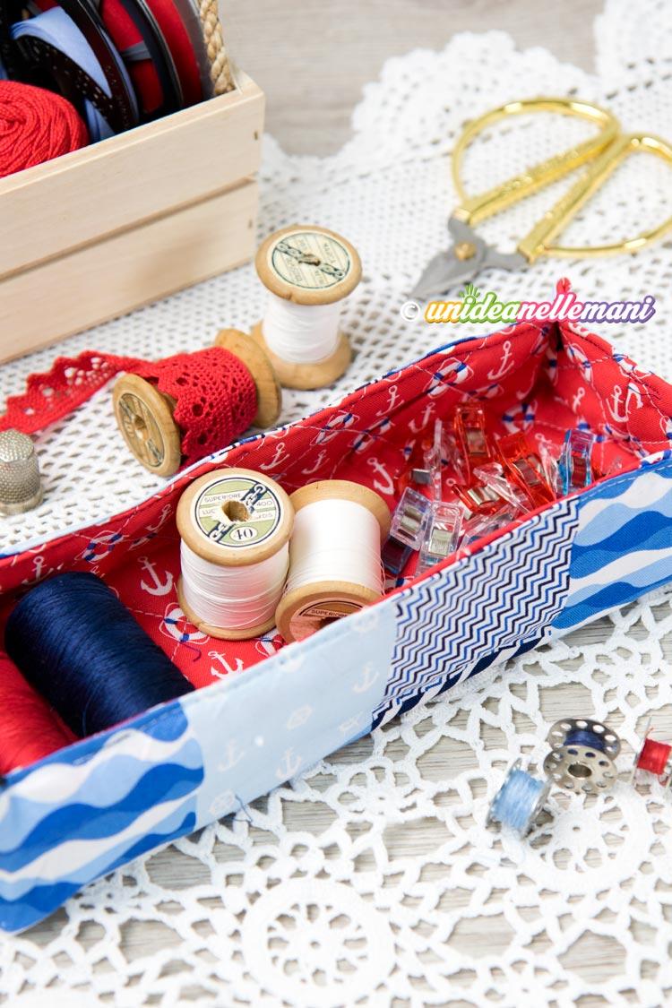 Cestini Da Lavoro Per Cucito cucire cestini di stoffa imbottiti: guarda come è facile