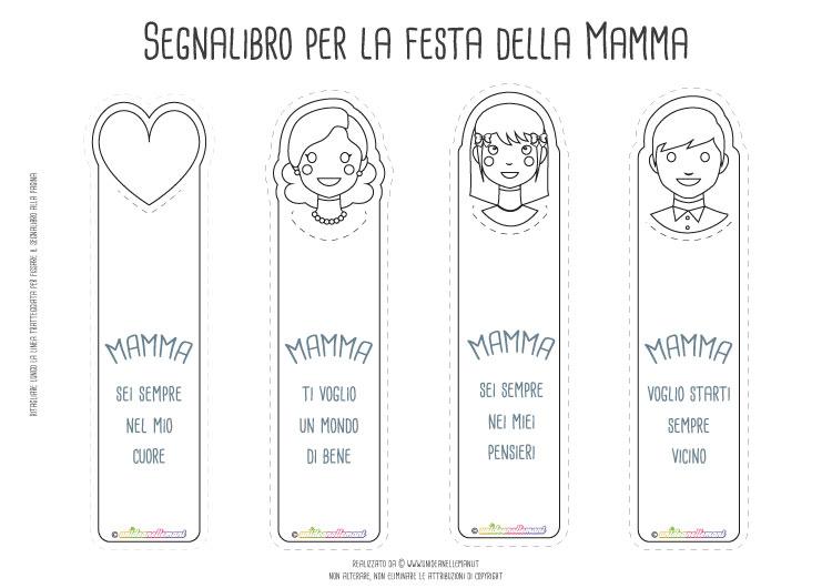 Graziosi Segnalibro Per La Mamma Da Stampare E Regalare