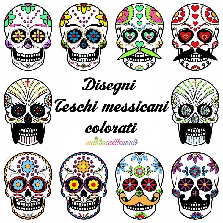 Disegni Teschi Messicani Colorati Da Stampare