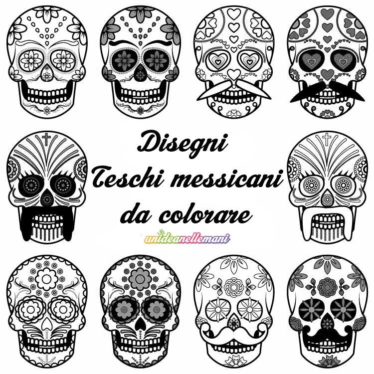 Disegni teschi messicani da colorare da stampare for Stampabili da colorare