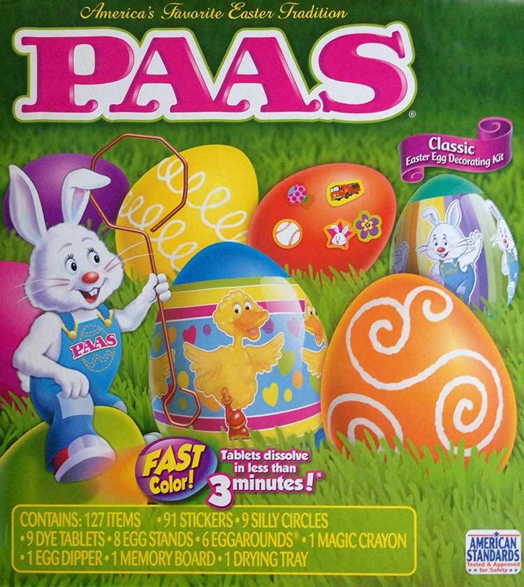 kit completo per decorare le uova pasquali