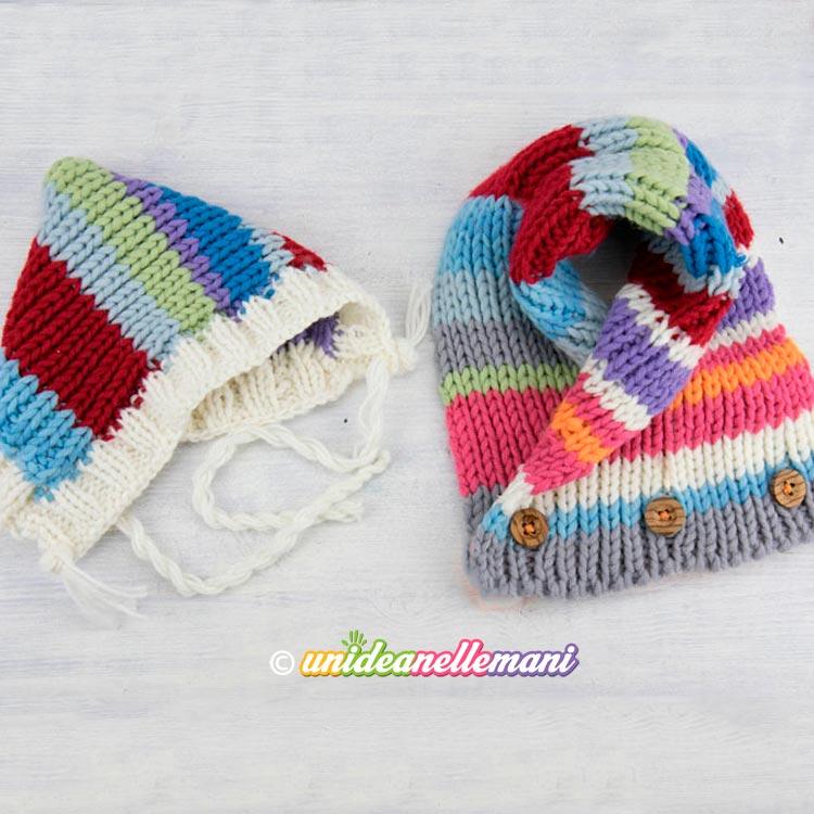 sciarpa e cappello ai ferri