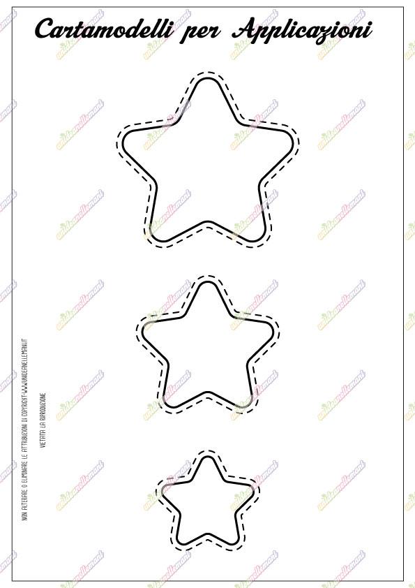 cartamodello stella