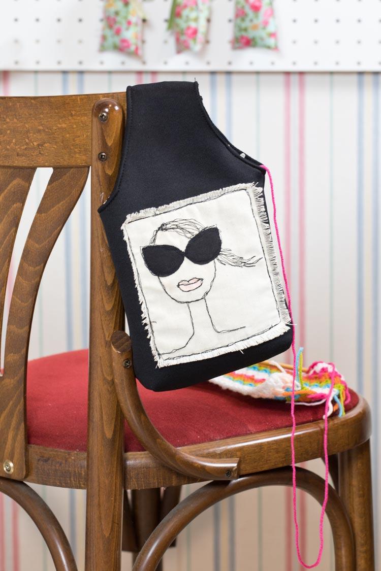 borsa porta lavoro maglia